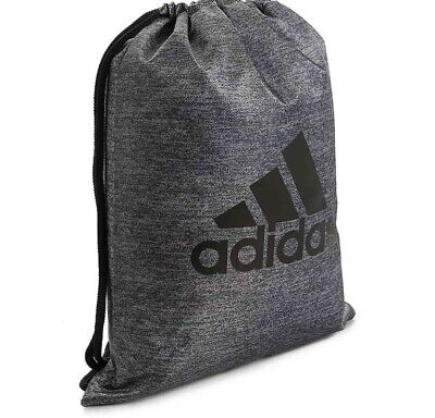 f1257facd85a Drawstring Backpack Adidas Sport Gym Sack Bag School Clothes Shoes Sackpack  New