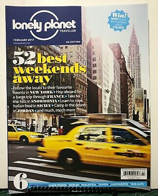 Lonely Planet Traveller UK 52 Best Weekends Away February 2017 FREE SHIPPING JB