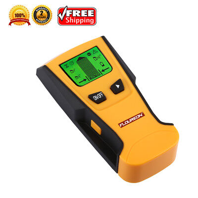 FLOUREON LCD Stud Center Finder Metal & AC Live Wire Detector Wood Wall Scanner