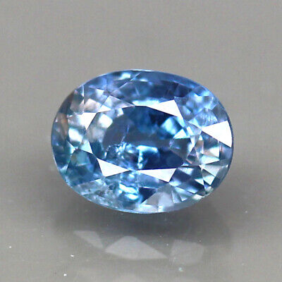 UNHEATED 1.02ct.TANGA SAPPHIRE BLUE OVAL SHAPE NATURAL GEMSTONE
