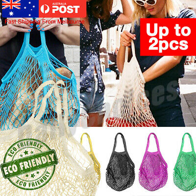 AU Mesh Net Turtle Bags String Shopping Reusable Fruit Storage Handbag Tote Hot