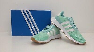 ddffd3a2462d Adidas Originals Womens FLB Runner W Energy Aqua White DB2122 - BRAND NEW  IN BOX