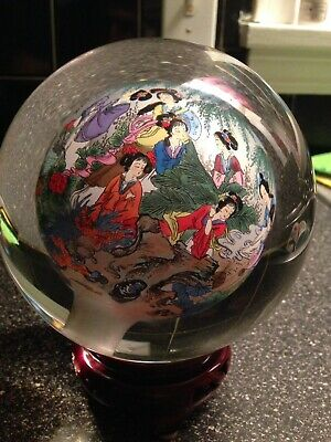 Vintage Asian Japanese Hand Painted Paper Weight