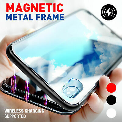 For Apple iPhone SE/ 5S Magnetic Adsorption Case Tempered Glass Phone Cover Back