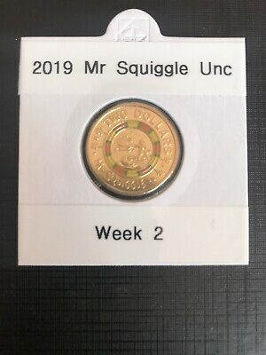 2019 Australian $2 Dollar Coin - MR. SQUIGGLE - Limited Edition In 2x2 Wk 2