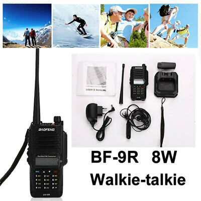 833F IP67 Walkie Talkie Two-Way Radio Time-Out Timer 8W 136-174 400-520MHZ