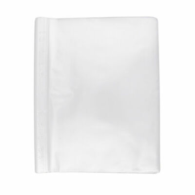 100Pcs Clear Non Glare A4 Holes PP Loose Leaf Sheet Protectors for Students Cool