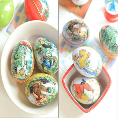 820C Mini Easter Egg Shaped Trinket Tin Iron Boxes Party kids Wedding Gifts
