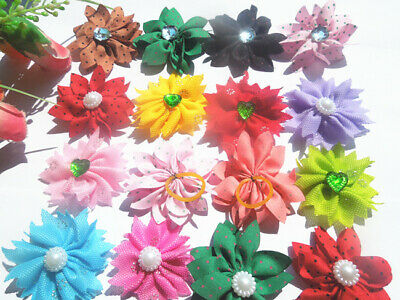 40 PCS/LOT Handmade Designer Pet Dog Accessories Grooming Hair Bows For Dogs