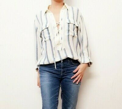 0010fc838a61 $161 EQUIPMENT REESE Clean Long-Sleeve Lace Blouse Size Small ...