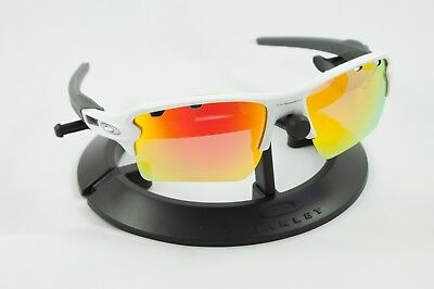 8eb5089c29 Oakley Flak 2.0 Xl White  silver Icons  Frame   Revant Fire Red Polarized  Custom
