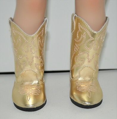Our Generation American Girl Doll 18 Dolls Clothes Shoes Gold Cowboy Boots