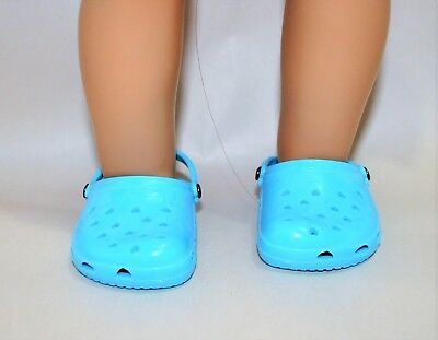 """Our Generation American Girl Doll Journey Girl 18""""Dolls Clothes Shoes Blue Clogs"""