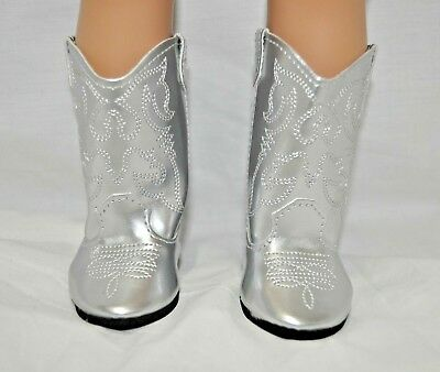 Our Generation American Girl Doll 18 Dolls Clothes Shoes Silver Cowboy Boots