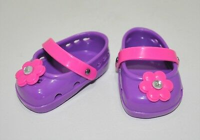 American Girl Doll Our Generation 18 Inch Dolls Clothes Purple Plastic Shoes