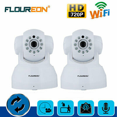2X Wireless WIFI IP Camera HD 720P CCTV Home Security Baby Monitor Night Vision