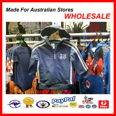 AUS WHOLESALE 50PC Baby Kids Boys Clothing Hooded Jacket TARGET STOCK RP $24.99