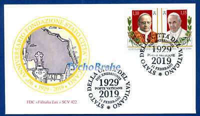 FDC FOUNDATION VATICAN STATE 2019 CITTÀ VATICANO First Day Cover - FILITALIA 422