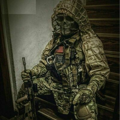 Military Men Ghillie Suit Tactical Custom Camouflage Shooting Sniper Gun Hooded