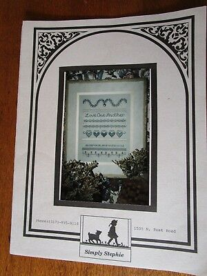 Love One Another Sampler By Simply Stephie To Embroider With Dmc Threads & Beads