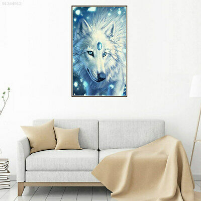 BF52 Creative Diamond Embroidery Snow Wolf Painting Wall Art 25*20*0.2cm Purple