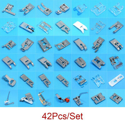 42PCS Domestic Sewing Machine Presser Foot Feet Tool Set for Brother Singer