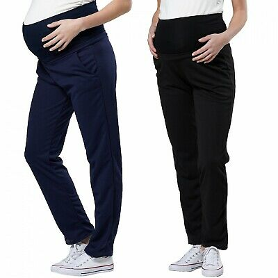 Happy Mama. Women's Maternity Pants Low Rise Waist Overbump Panel.121p