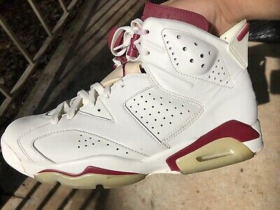 new product 8d4c0 c751b Nike Air Jordan 6 VI Retro OG Maroon Off White 2015 384664 116 Mens Size 10