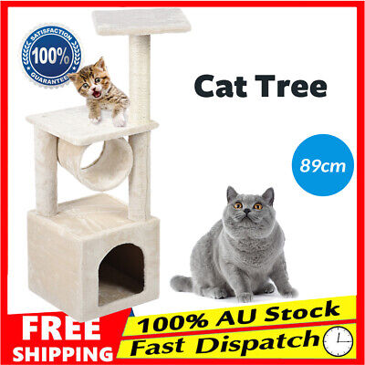 89cm Cat Tree Scratching Post Scratcher Pole Gym Toy House Furniture Multi Level