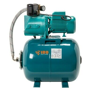 """IBO 1""""Electric Water Pump JSW150 2HP +50L Pressure Vessel-Well Mains Booster Set"""