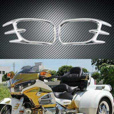 Front Turn Signal Light Trim Cover Decoration For Honda Goldwing GL1800 2001-'11