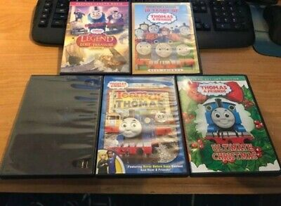 Thomas the Tank Engine Thomas & Friends 5 DVD lot! Movie,Holiday,Collectors,