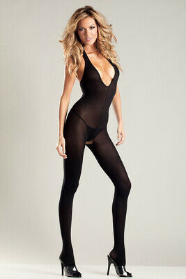 Be Wicked - Catsuits - Ouvert Bodystocking mit Neckholder - Black