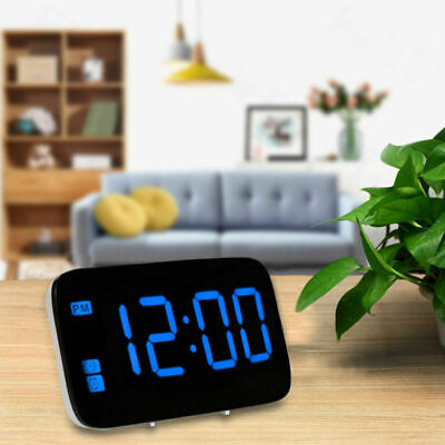 Electric Snooze Digital LED Alarm Clock W/ Large Screen Voice Control Backlight