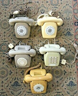 LOT OF 5 (FIVE) ROTARY PHONES of WHICH 4 ARE IN EXCELLENT WORKING ORDER