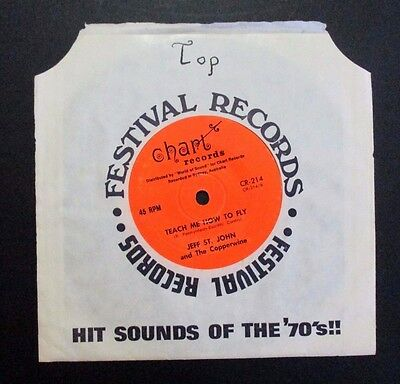 JEFF ST. JOHN and The Copperwine - TEACH ME HOW TO FLY - 1970 AUSSIE  7''- PSYCH