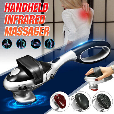 220V Electric Infrared Heat Massager Handheld Percussion Machine Wand Back Body