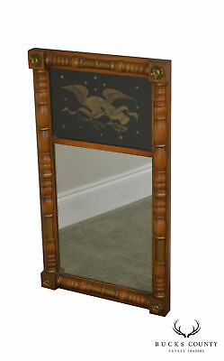 Hitchcock Federal Style Maple & Eagle Stenciled Mirror