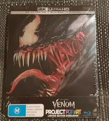 Venom Limited Edition Steelbook (4k Blu-ray, 2019, 2-Disc Set)NEW/SEALED.digital