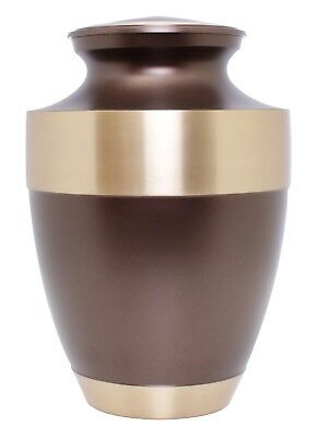 Large Cremation Urn for Ashes Adult Urn Funeral Memorial Urn Brown Ashes Urn