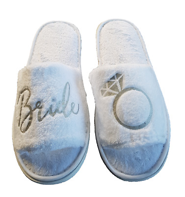 Bridal - Bride Bridesmaid Slippers - Wedding Shoes (One postage price for ALL)