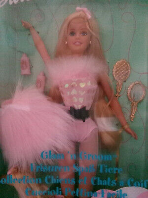 Barbie Glam N Groom for Collect or Play with her beautiful Afghan. Box not great