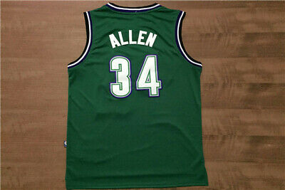 Milwaukee Bucks  34 Ray Allen Retro Green Basketball Jersey Size  S - XXL dec2c6532