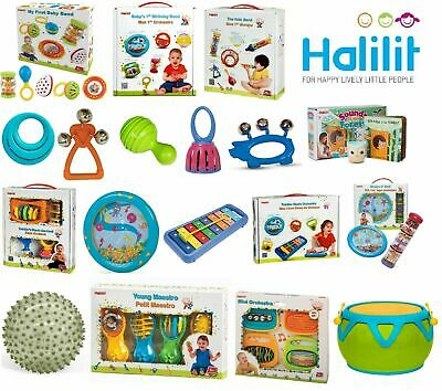 Halilit Baby Musical Gift Sets,Xylophone,Tambourine,Bells,Rhythm Pal - FREE P&P