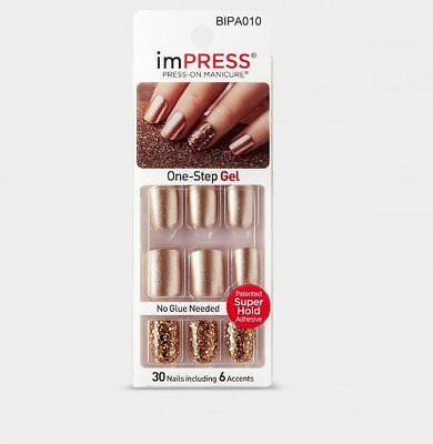 imPRESS Nails SYMPHONY Gold Künstliche Fingernägel Press-On Kiss/Broadway