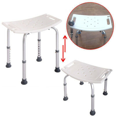 Elderly Bath Shower Chair Adjustable Medical 7 Height Bench Bathtub Stool Seat