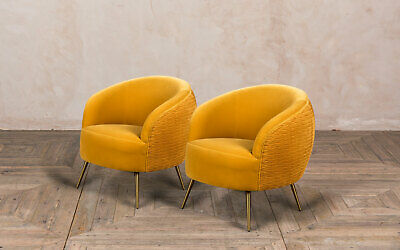 Pair Of Golden Honey Velvet Dining Chairs Contemporary Modern Dining Chairs