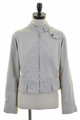 a0f171897314f4 TED BAKER Womens Bomber Jacket Size 2 Small Beige Cotton BT02