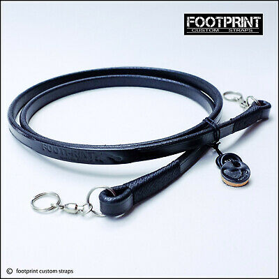 'Footprint' Camera Shoulder Strap (Leather)