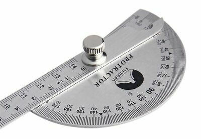 180 Degree Stainless Steel Adjustable  Rotary Protractor Angle Meter Universal